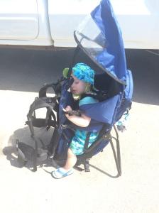 Sleeping after Barrier Lake hike 2015